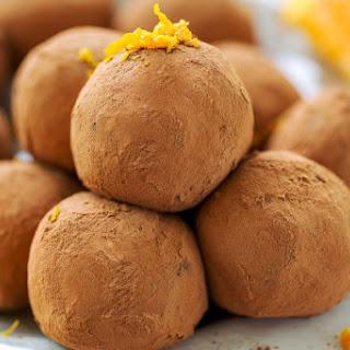 Orange Dark Chocolate Truffles.