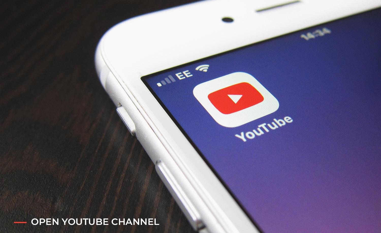open Youtube channel