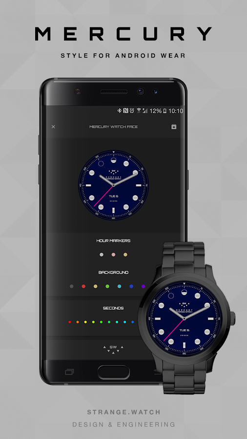 SW Mercury Watch Face- screenshot