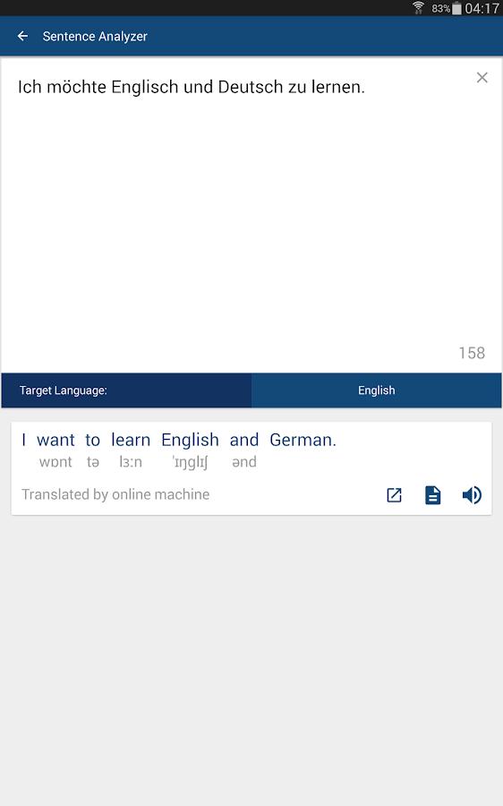 Italian To English Translation Online: German English Dictionary & Translator Free