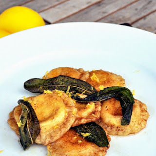 Lemon Ricotta Ravioli with Sage Brown Butter Sauce Recipe