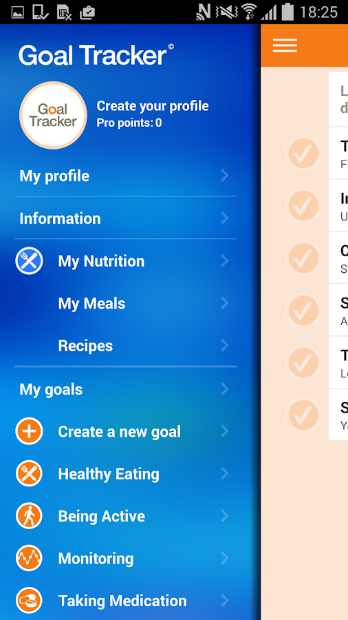 AADE Diabetes Goal Tracker- screenshot