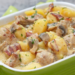Sausage and Potato Casserole with Bacon.