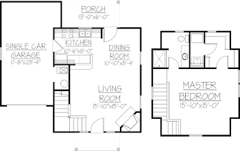 Go to J - One Bed Cottage Floorplan page.