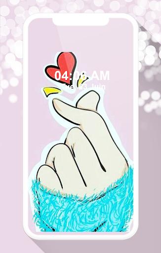 Finger Heart Wallpaper screenshots 2