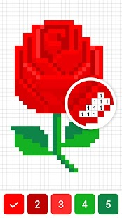 Draw.ly - Color by Number Pixel Art Coloring Screenshot
