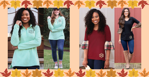 Marleylilly.com is your one-stop-shop for all your fall clothing needs! Whether you like a slim fit, classic fit, oversized fit, or all three, we have personalized clothing for every preference!