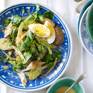 Smoked Fish Salad with Pickled Beans and Eggs.