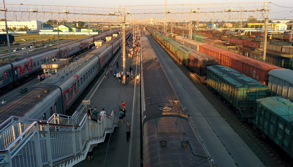 A view of the Barabinsk station