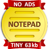 NOTEPAD: Simple, Tiny, Ad-free (No ads)