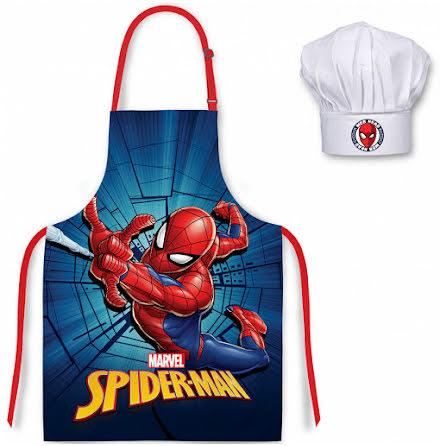 Förkläde Spindelmannen Blå