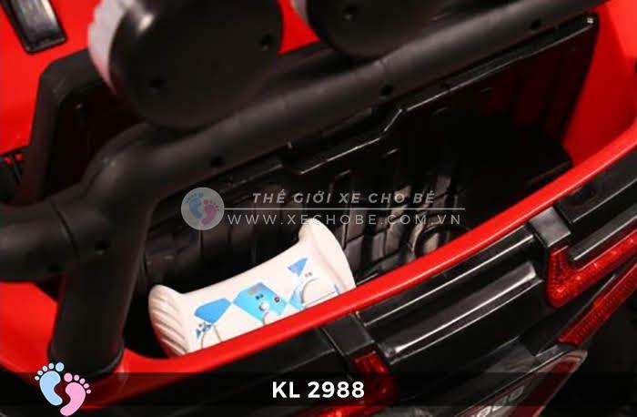 Xe ô tô điện đồ chơi trẻ em KL-2988 ghế da 17