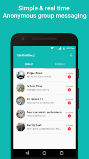 Saraha Group - Anonymous Group Messenger - náhled