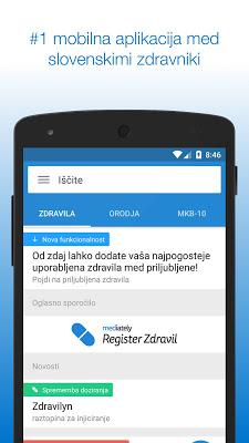 Mediately Register Zdravil - screenshot