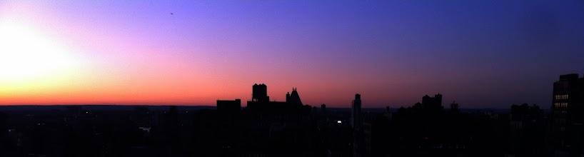 Photo: Sunset over West Manhattan