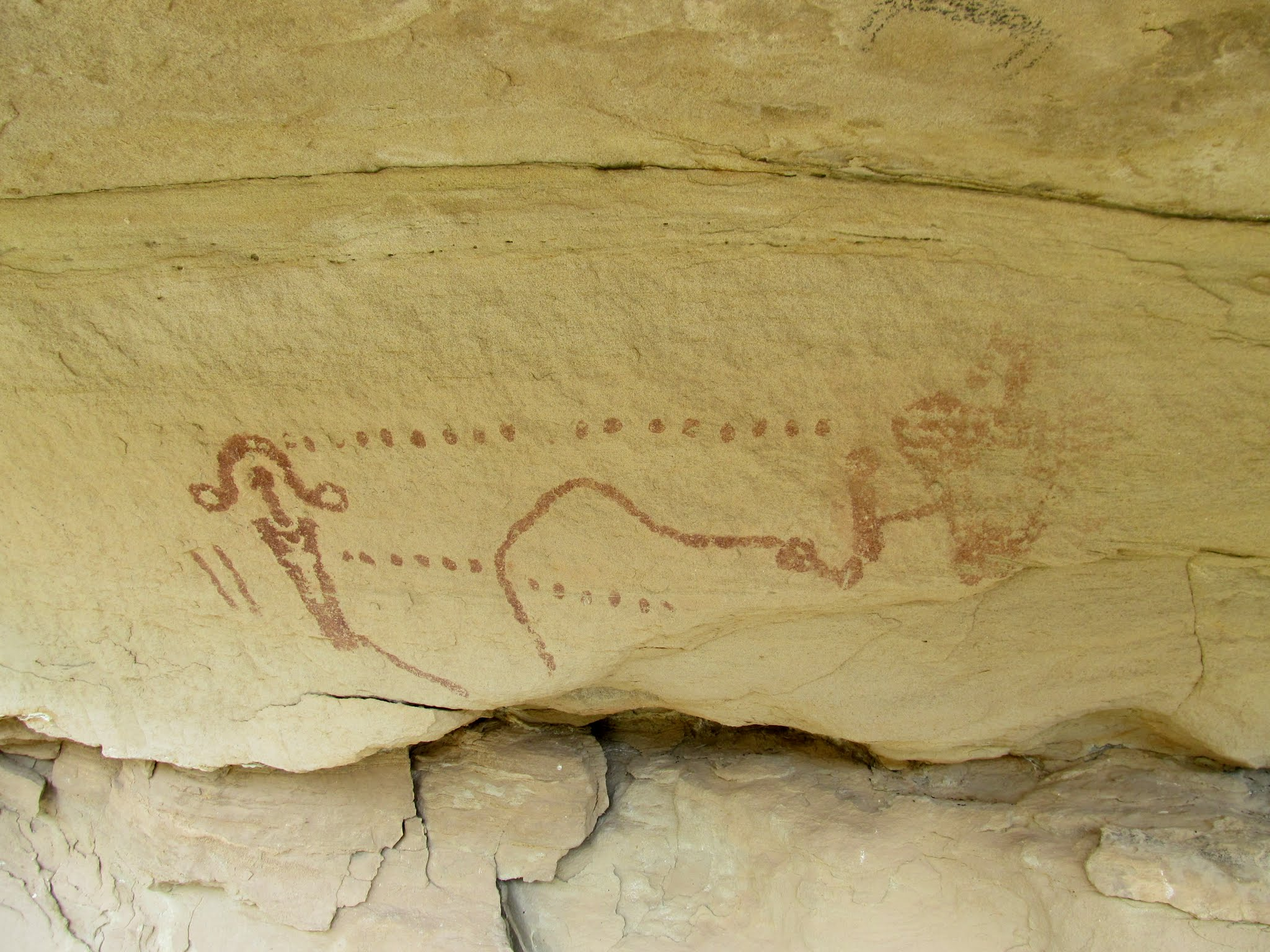 Photo: Pictographs in lower Hay Canyon
