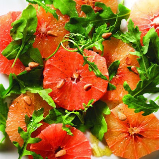 Pink Grapefruit Salad with Maple Syrup and Vanilla Dressing