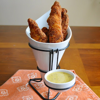 Crispy Curry Chicken Tenders with Creamy Honey Mustard Sauce