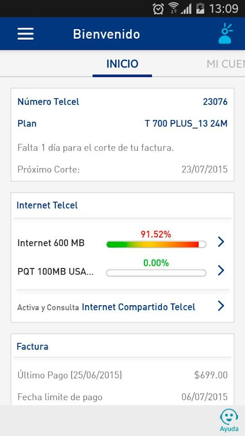 Mi Telcel - screenshot