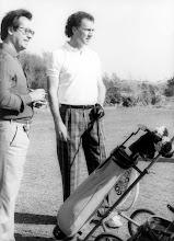 Photo: Amado Moreno con Beckenbauer en el campo de golf de Maspalomas