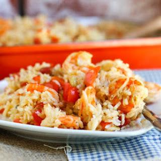 Shrimp and Rice Casserole.