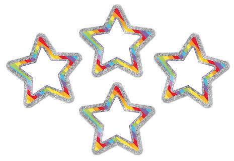 Dekor - Glittrande regnbågsstjärnor 36 st 7763-886-5