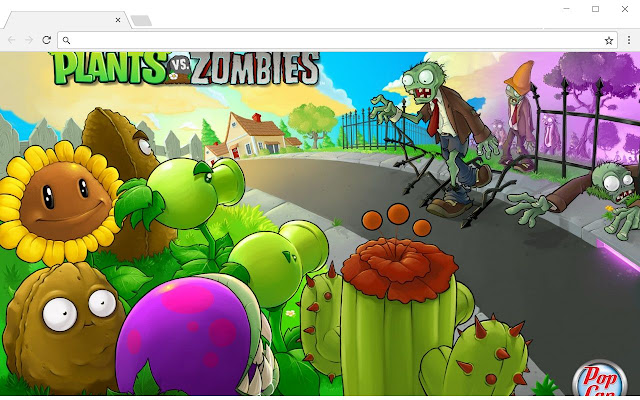 Wallpaper plants vs zombies tab chrome web store customize your chrome browser with the plants vs zombies extension toneelgroepblik Gallery