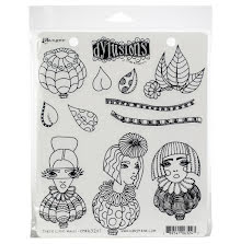 Dylusions Cling Stamps 8.5X7 - Three Little Maids