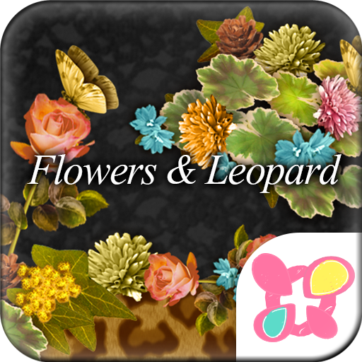 Flowers & Leopard Wallpaper Icon