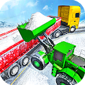 Offroad Snow Trailer Truck Driving Game 2020 icon
