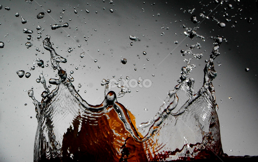 silver drops by Mervin Anto - Abstract Water Drops & Splashes ( water )