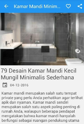 Desain Kamar Mandi Minimalis screenshot