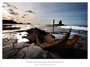 Photo: #SeaTuesday #TuesDecay  The Wreck at Black Nab  Here's a shot that seems equally apt for#SeaTuesday curated by +Julia Anna Gospodarouand#TuesDecay curated by +Ian Ference. I've been meaning to go and photograph this old wreck in Saltwick Bay near Whitby for some time. It's quite a well photographed subject locally, so when I finally got to see it lying there on the beach it seemed a bit underwhelming. But it does make a nice subject along with the rock formation Black Nab. I couldn't wait until dusk as I'd have been caught by the tide, but I hope to get back for another look when the sunset and low tides times are more favourable.  Canon EOS 5D,EF17-40mm f/4L USM at 17mm, ISO 100, 1/13s at f22