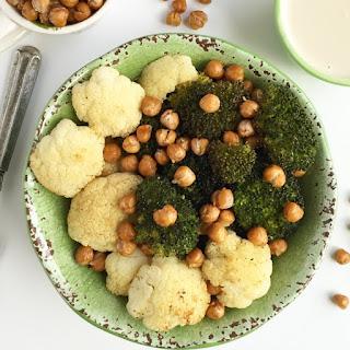 Broccoli Cauliflower Chickpea Bowl