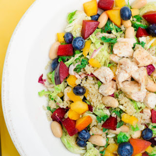 Rainbow Chicken Quinoa Salad