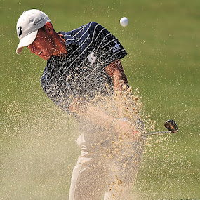 Sand Blasting by Tom Theodore - Sports & Fitness Golf ( golf )