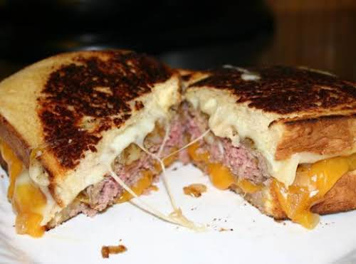 "Grilled Cheese Burgers! ""Oh my gosh...these were awesome...I added onion soup mix..."