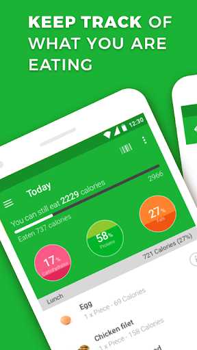 Calorie, Carb & Fat Counter 3.0.1 Screenshots 1
