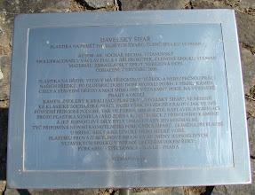 Photo: Davle, tabuľa k pamätníku