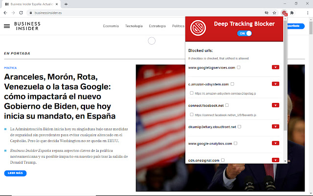 Deep Tracking Blocker
