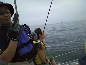 Photo: 微風なので艇速は2~3ノット