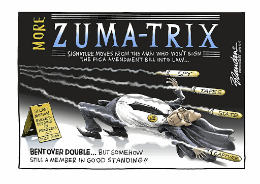 Business Day cartoonist Brandan Reynolds wins the Standard Bank Sikuvile Journalism Award for editorial cartoons.