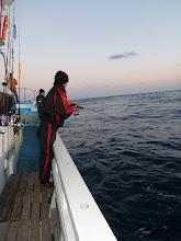 """Photo: ファーストヒットは、反対舷のジギングの""""ナガキさん""""!"""