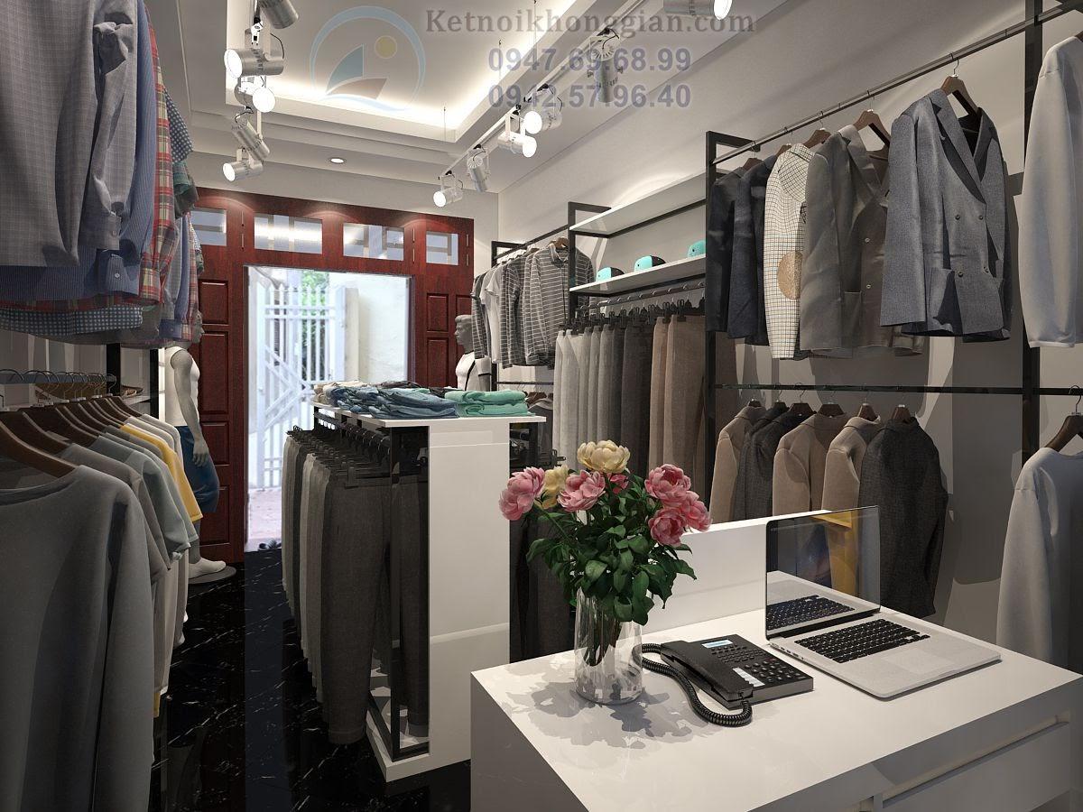 thiết kế shop thời trang nam chất lượng cao