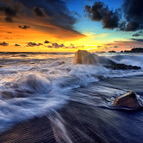 by Made Suwita - Landscapes Waterscapes ( bali, sunset, indonesia, wave, tabanan, mengening )
