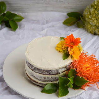 Naked Carrot Cake with Coconut Cream Cheese Frosting
