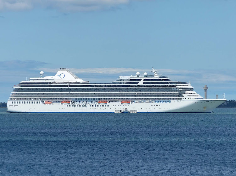 Oceania's Marina in port.
