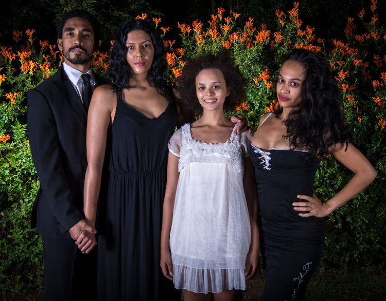 "The cast of ""Jungfrau"" are, from left, Jacques da Silva, Tracey Lee Oliver, Carla Classen and Ameera Patel"
