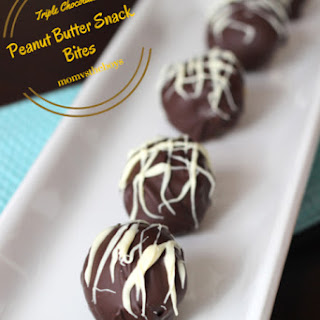 Triple Chocolate Peanut Butter Snack Bites