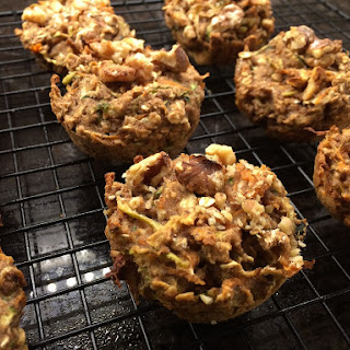 Healthy Apple Carrot Zucchini Muffins